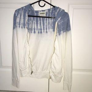 The dye zip up hoodie